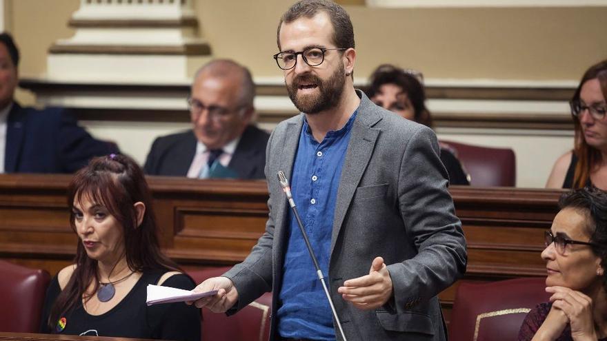 El diputado de Podemos en Canarias Juan Márquez