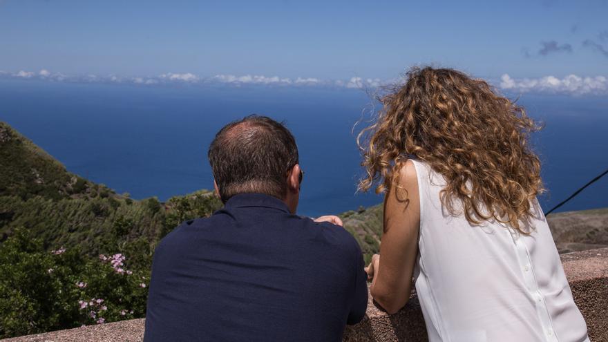 Emiliano Coello y Ornella Chacón, en su visita a la isla de La Gomera