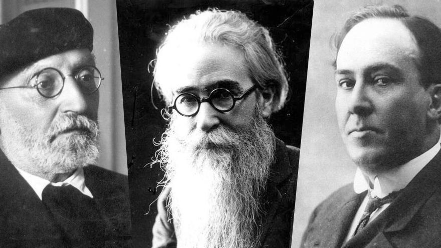 Miguel de Unamuno, Valle Iclán y Antonio Machado. (DP)