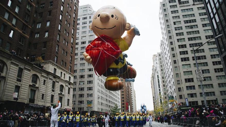 Los dibujos animados invaden Nueva York por el día de Acción de Gracias
