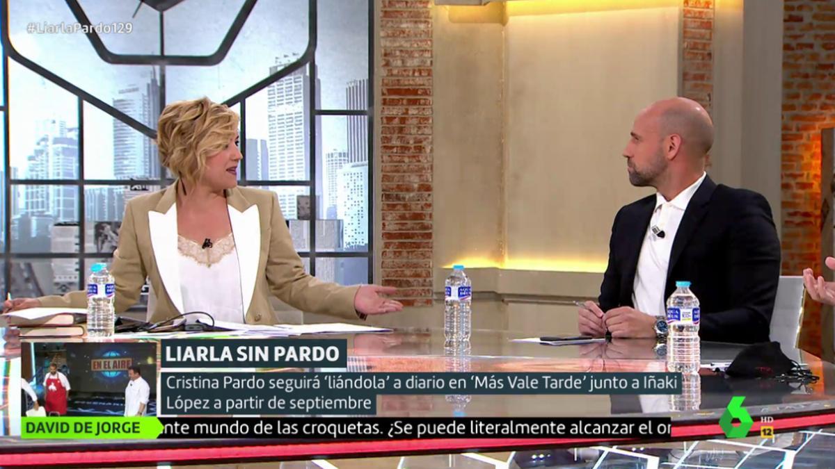 Cristina Pardo y Gonzalo Miró bromean en 'Liarla Pardo'