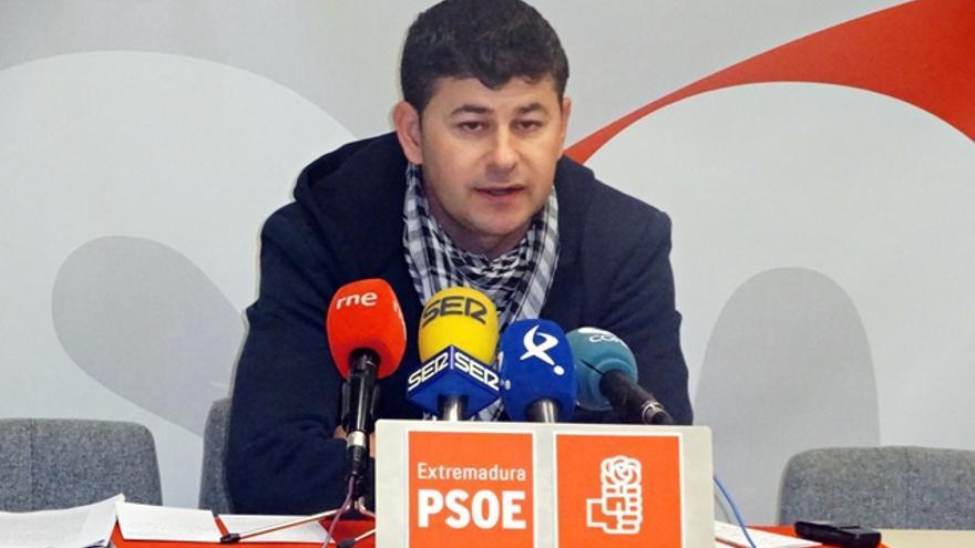 Carlos Labrador, secretario general del grupo socialista en la Asamblea de Extremadura