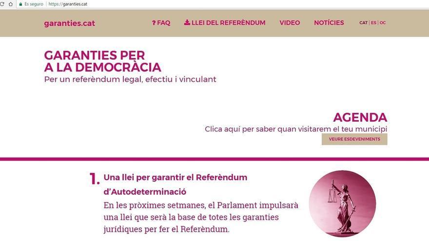 Sigue operativa la web de JxSí 'garanties.cat' con información del referéndum