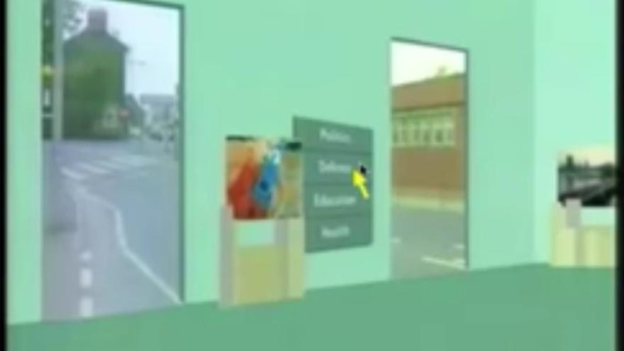 Así se accedía a los paseos virtuales desde la galería de arte (Imagen: YouTube | Computerphile)