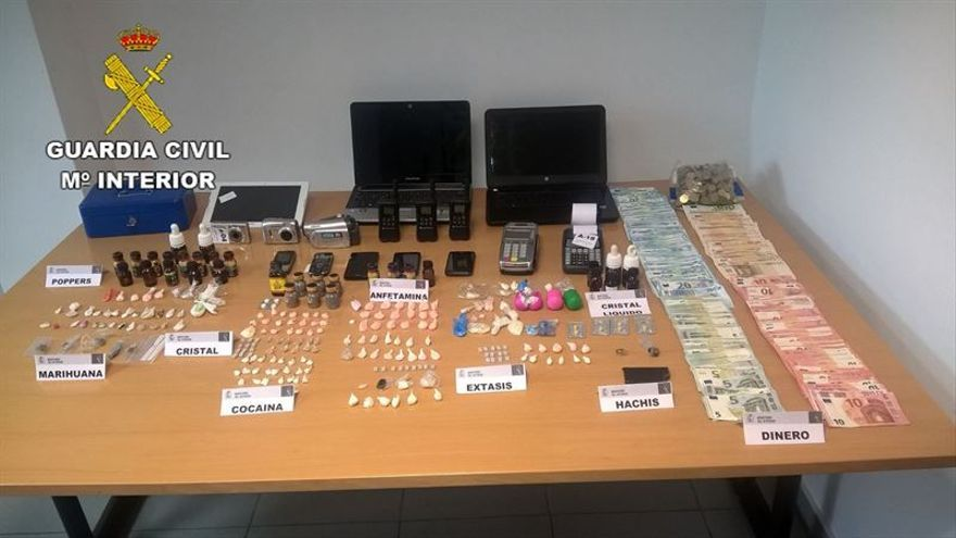 Seis detenidos en Arucas por delitos de tráfico de drogas y prostitución