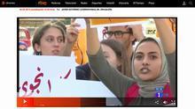 Feministas palestinas se manifiestan contra los asesinatos machistas en la web de TVE.