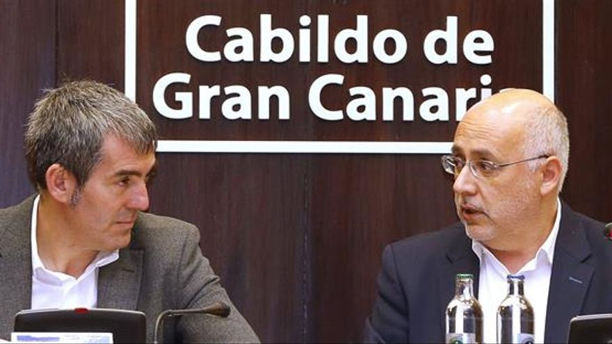 Fernando Clavijo y Antonio Morales. (EFE)