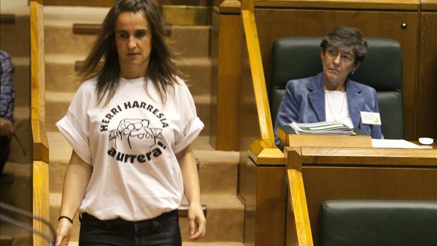 Parlamentarios de EH Bildu lucen camisetas sobre la detención en Ondarroa