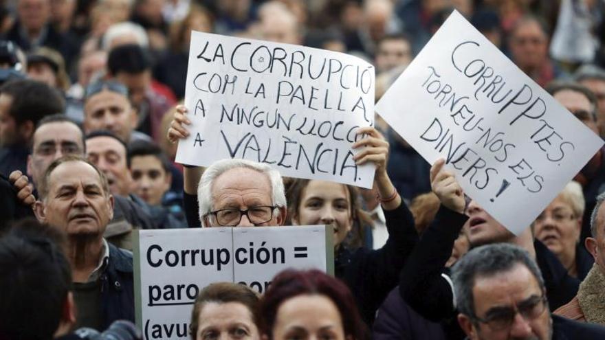 Manifestación en Valencia contra la corrpución