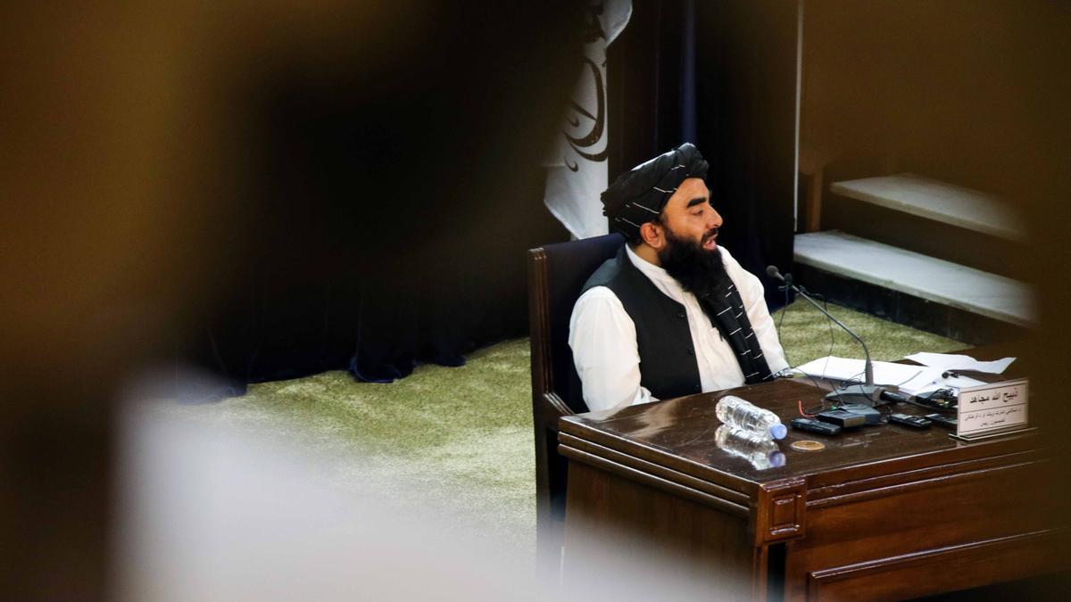 El portavoz talibán Zabihullah Mujahid.