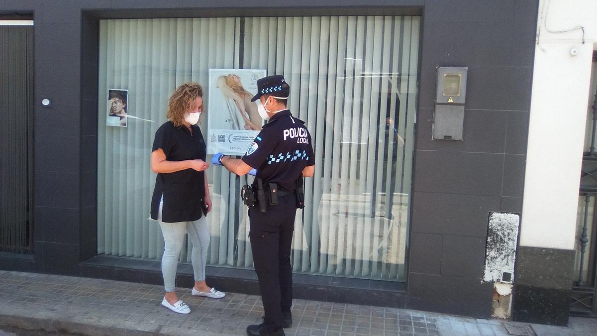 Control de la Policía local en Bolaños de Calatrava (Ciudad Real)