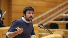 Ramón Espinar, en la tribuna del Senado.