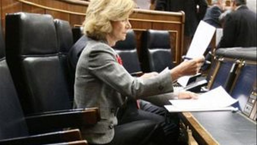 Elena Salgado, ministra de Economía.
