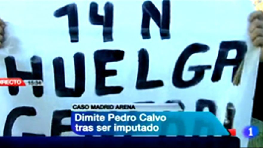 Boicotean el Telediario con pancartas del 14-N