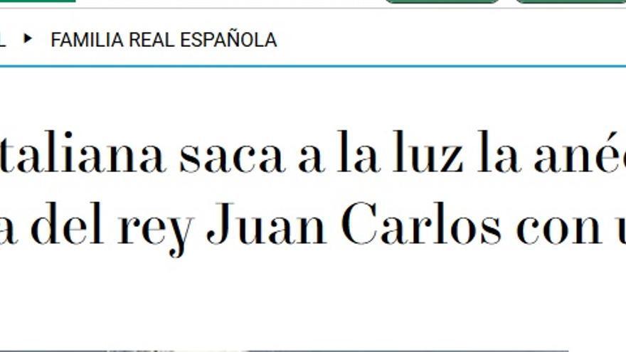 Anécdota Juan Carlos en OKDiario