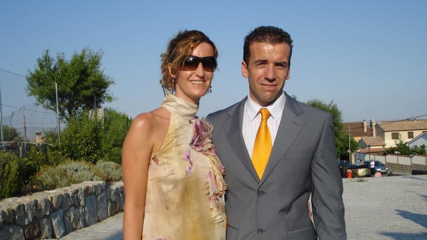Ana María Muñoz, junto a su esposo.