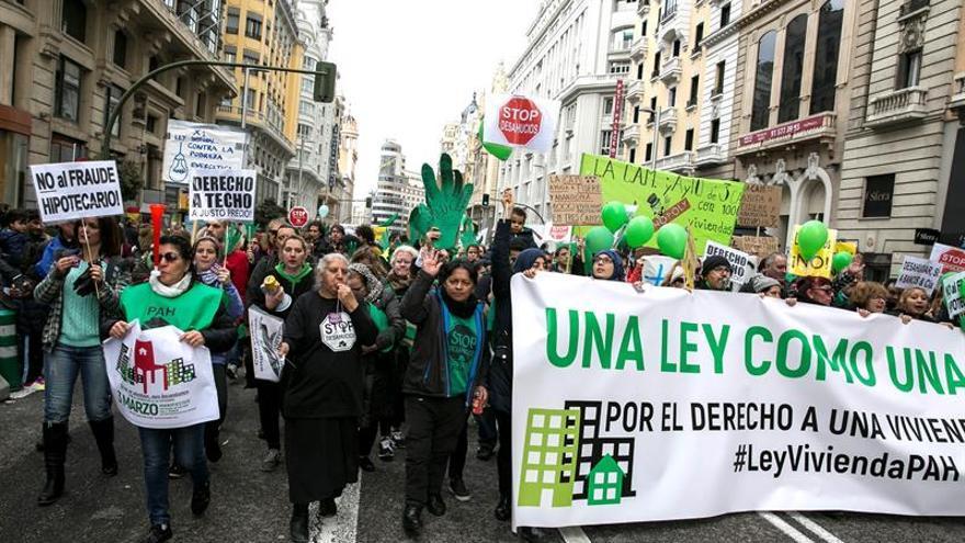 La PAH anuncia escraches a Ciudadanos para que levante el veto a su Ley de la Vivienda