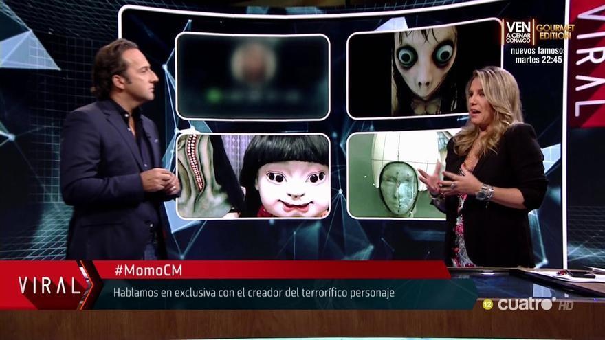 Cuarto Milenio entrevistó al creador de Momo, la figura de terror usada para el peligroso reto viral