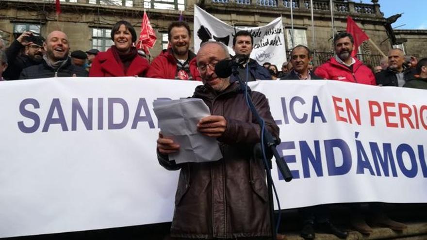 Manuel Martín, portavoz de SOS Sanidade Pública