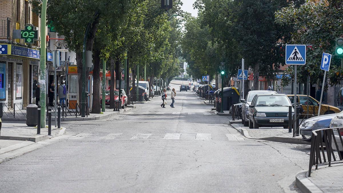 Avenida de los Almogávares en la que ocurrió el atropello