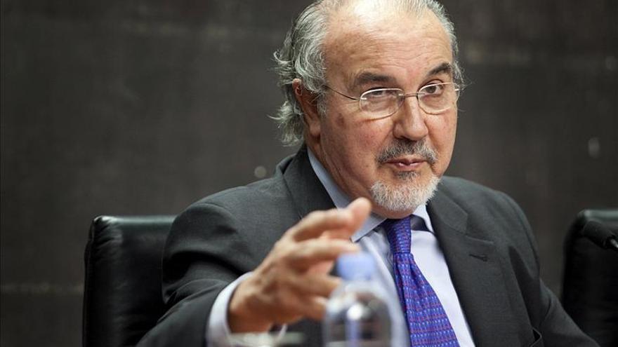 Una imagen de archivo del vicepresidente económico socialista, Pedro Solbes