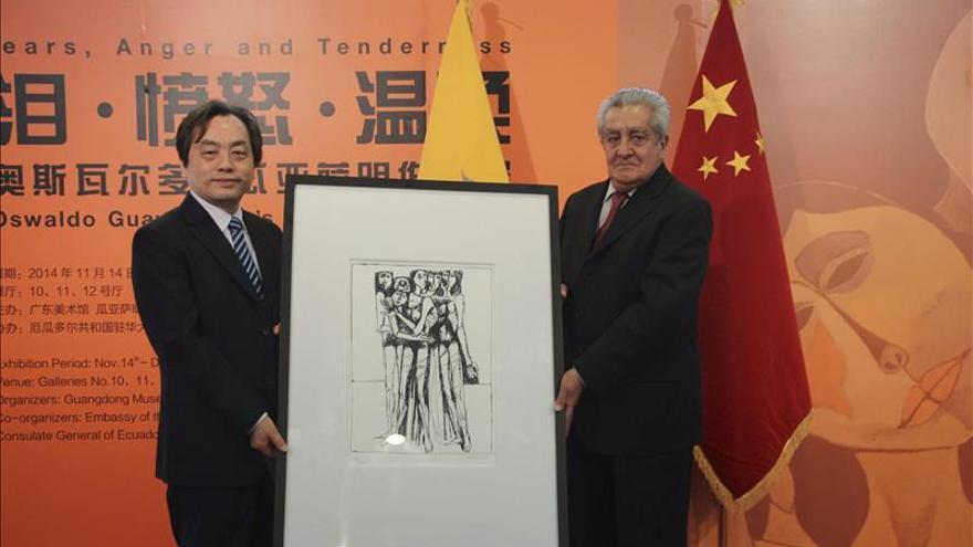 Una muestra lleva a Cantón (China) la obra de Oswaldo Guayasamín