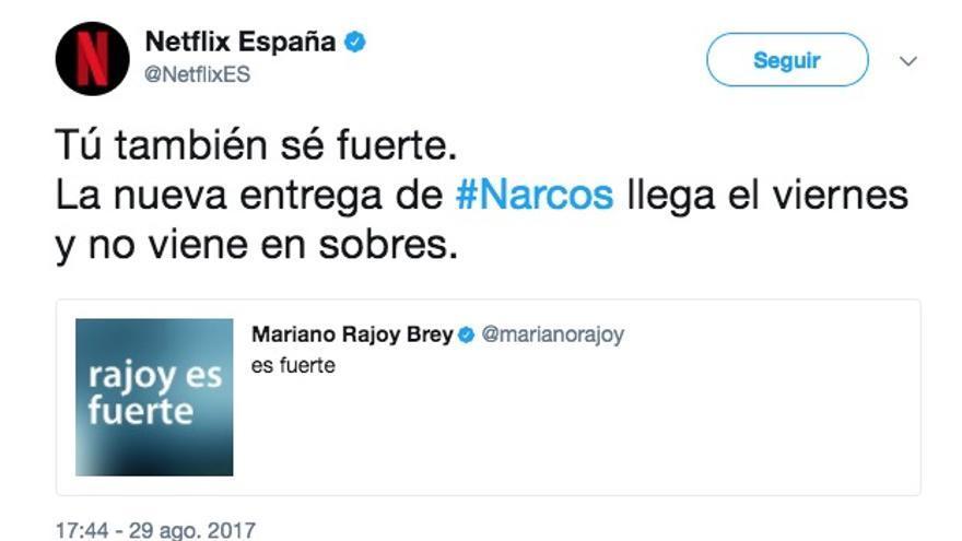 Netflix y el mensaje de 'Rajoy es fuerte'