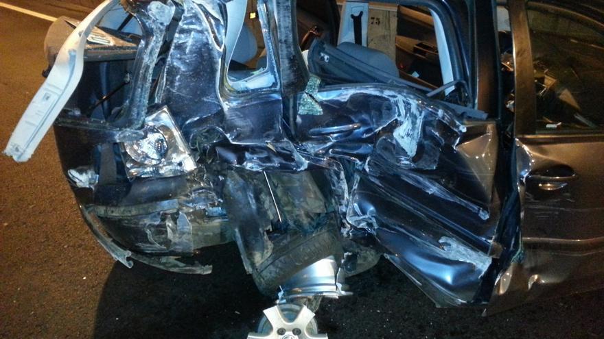 Aparatoso accidente en el túnel de San José #1