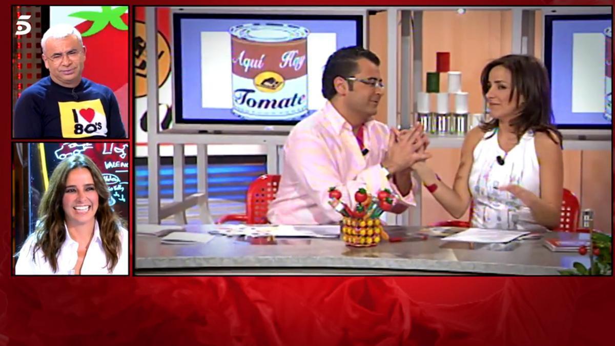 Jorge Javier Vázquez y Carmen Alcayde recordaron el 'Tomate' en el plató de 'Sálvame'