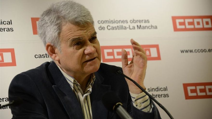 José Luis Gil, secretario general de Comisiones Obreras en Castilla-La Mancha / foto: Europa Press