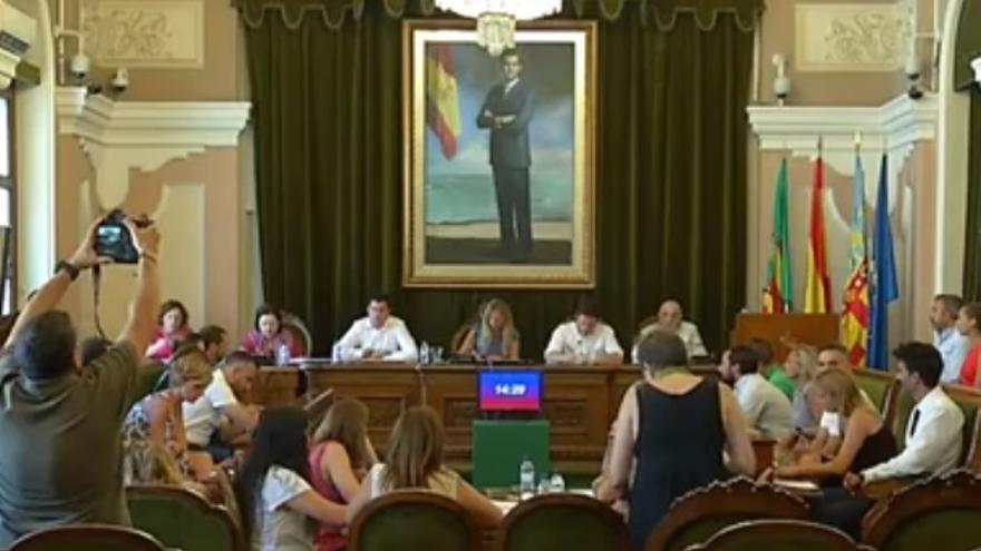 Un momento del pleno del Ayuntamiento de Castelló