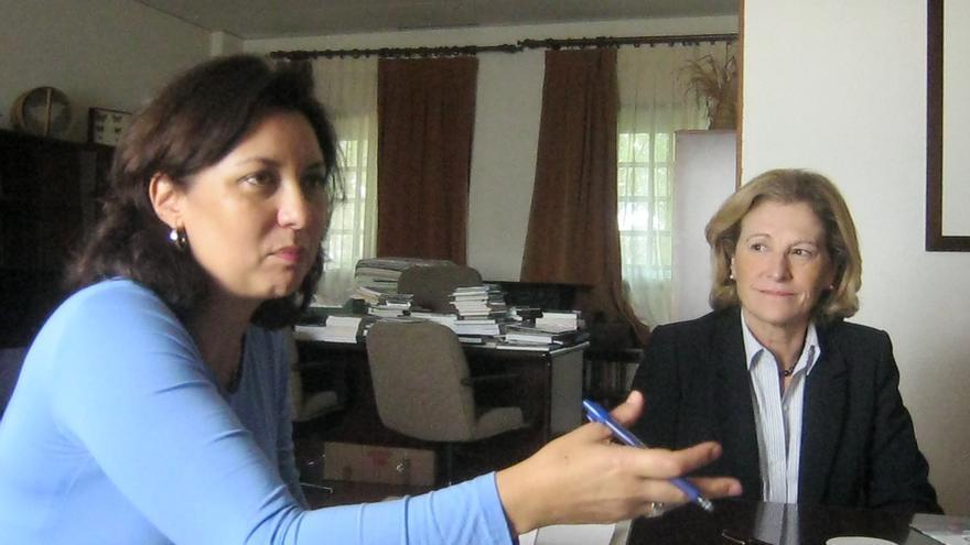 Ventura del Carmen Rodríguez junto a Marisa Tejedor
