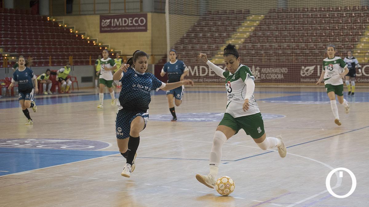 Rocío Gracia, en un partido del Deportivo Córdoba