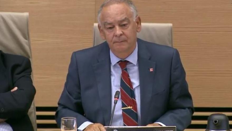 El exdirector adjunto operativo de la Policía Eugenio Pino en la comisión de investigación sobre la policía política en el Congreso de Diputados.