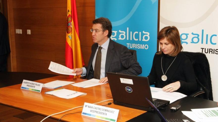 Feijóo y Nava Castro, responsable de la Agencia Turismo de Galicia, ente en el que el Consello de Contas pone el foco por la discrecionalidad a la hora de integrar personal
