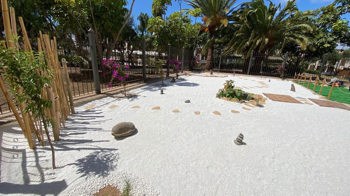 El jardín inaugurado en Telde para homenajear al maestro Masaaki Hatsumi
