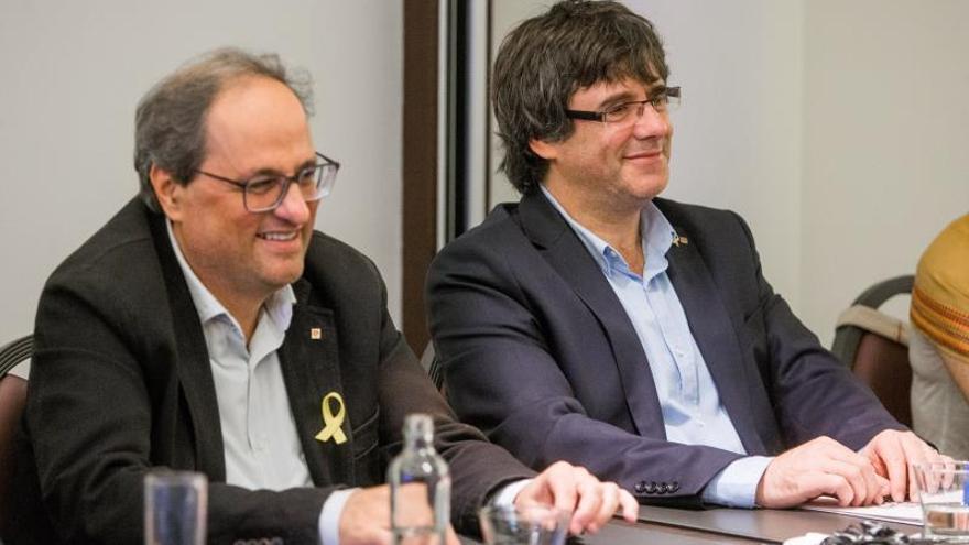 Torra y Puigdemont se reúnen en Waterloo con miembros de ERC y sin la CUP