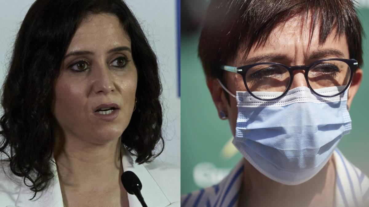 La presidenta de la Comunidad de Madrid, Isabel Díaz Ayuso, y la directora general de la Guardia Civil, María Gámez, destinatarias de las cartas interceptadas