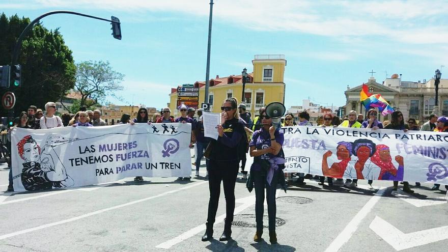 Bloque feminista en la manifestación del 1 de mayo/ Lucía Barbudo