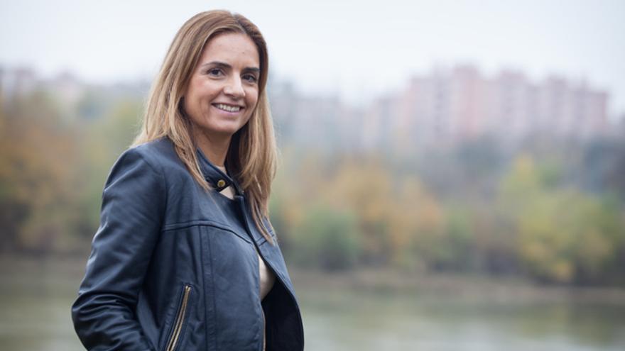 Susana Sumelzo en la campaña de las elecciones de diciembre de 2015.