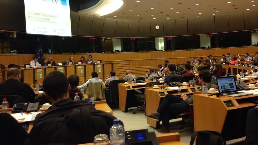 Una de las conferencias del Consejo de Otoño de los verdes europeos que se ha celebrado esta semana en Bruselas. / @laiaortiz