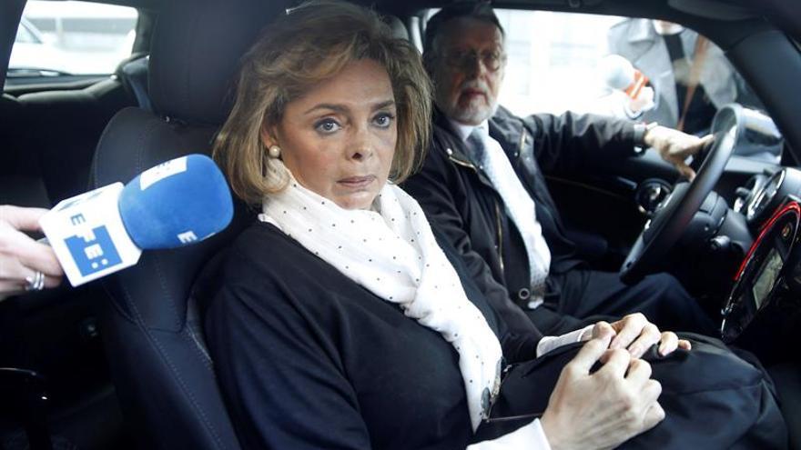 María José Alcón se acoge a su derecho a no declarar en el caso Imelsa