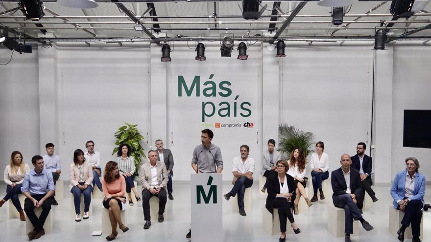 El líder de Más País, Íñigo Errejón presenta a los candidatos de las 18 provincias donde se presenta el partido.