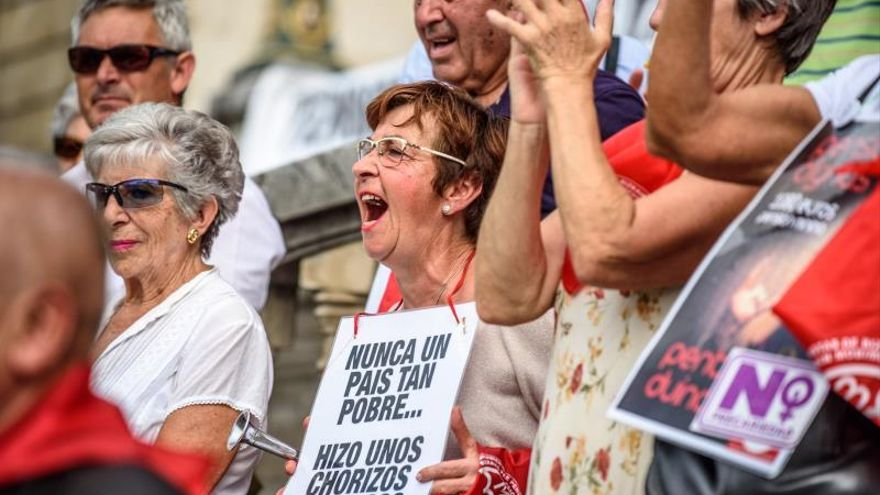 """Los pensionistas vizcaínos dicen que no van a """"dar tregua"""" en sus protestas"""