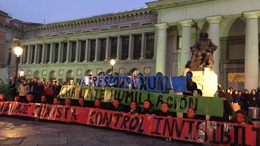 Acción del Bloque Feminista Estudiantil / MB