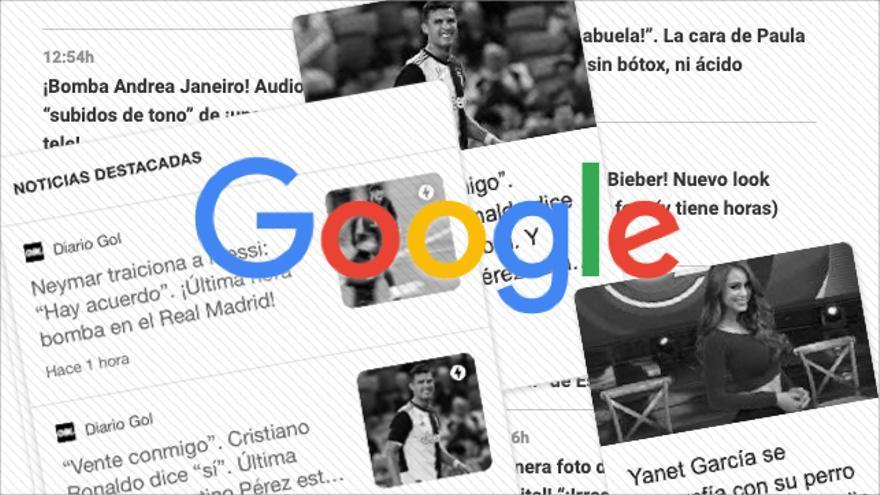 Google Discover, el servicio de recomedación de noticias de Google, se llena de desinformación y contenido basura.