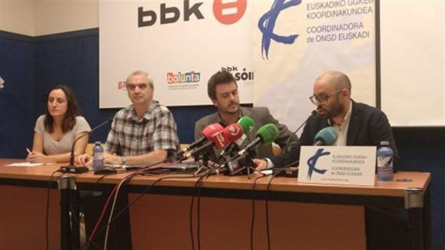 Representantes de las ONGs vascas.