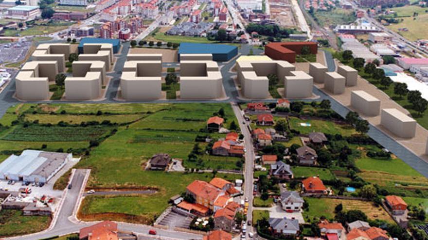 Infografía sobre el emplazamiento de las nuevas viviendas previstas para el Sector 1 en Santander. | AYUNTAMIENTO DE SANTANDER