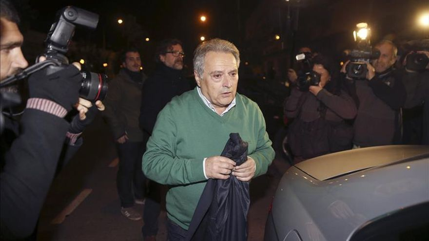 Alfonso Rus, en enero, tras ser puesto en libertad por el juez.