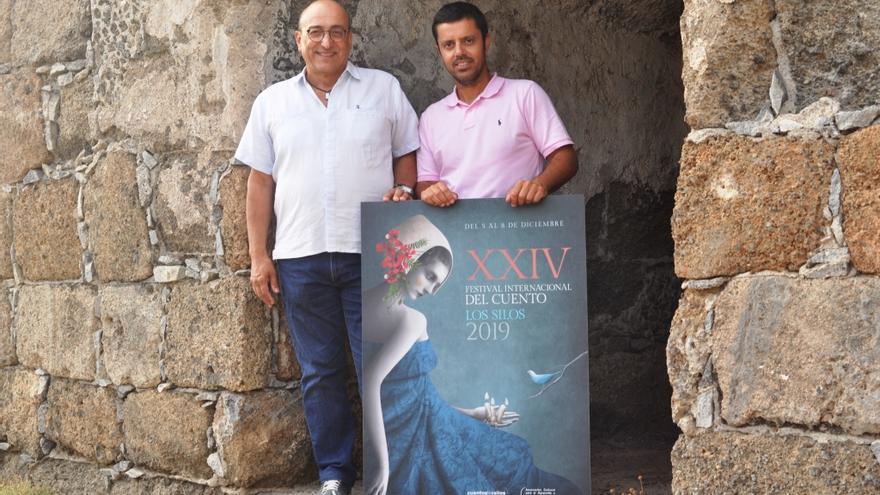 Foto del cartel del Festival Internacional del Cuento de Los Silos.